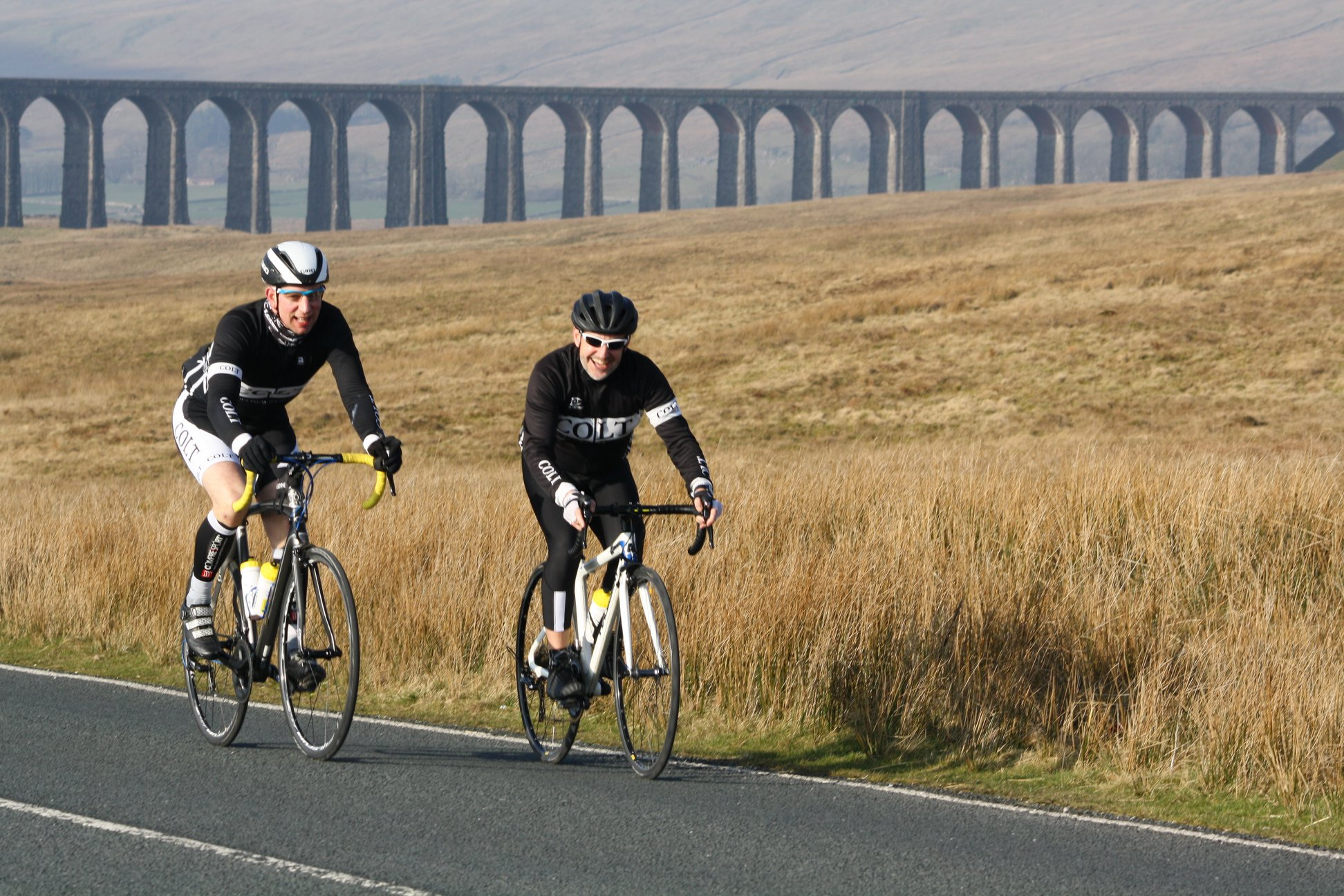 Andy Fellows and I crossing Ribblehead pic  Steve Smithson 7625fc589